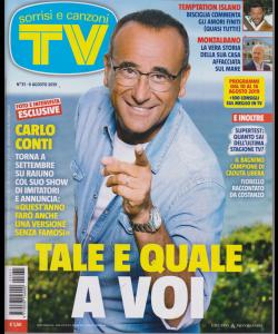 Sorrisi E Canzoni Tv - n. 31 - 6 agosto 2019 - settimanale