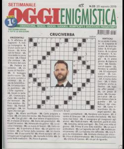 Settimanale Oggi Enigmistica - n. 33 - 20 agosto 2019 -