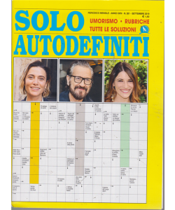 Solo Autodefiniti - n. 281 - mensile - settembre 2019
