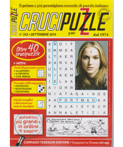 Crucipuzzle - n. 543 - settembre 2019 - mensile