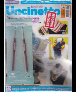 Punti e Colori - Uncinetto tunisino - n. 56 - bimestrale + uncinetti di 1,2 mm e 1,5 mm con gancio in acciaio e manico in plastica