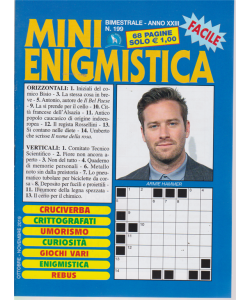 Mini Enigmistica - n. 199 - bimestrale - ottobre - novembre 2019 - 68 pagine