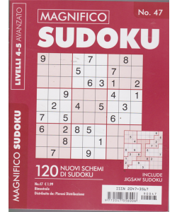 Magnifico Sudoku - n. 47 - bimestrale - 120 nuovi schemi di sudoku