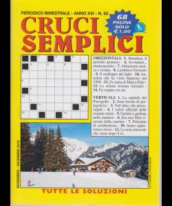 Cruci semplici - n. 93 - bimestrale - 68 pagine - novembre - dicembre 2019