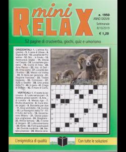 Mini Relax - n. 1950 - settimanale - 8/10/2019