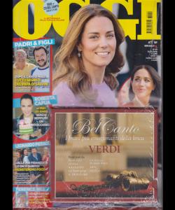 Oggi + cd Bel canto - Verdi - I brani più emozionanti della lirica - n. 49 - 13812/2018 - settimanale
