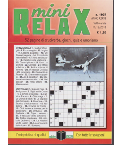 Mini Relax - n. 1907 - settimanale - 11/12/2018