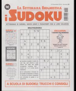 La settimana enigmistica - i sudoku - n. 21 - 13 dicembre 2018 - settimanale