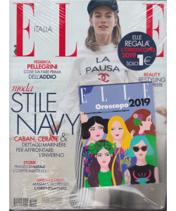 Elle Italia + Elle oroscopo 2019 - n. 18 - 22/12/2018 - settimanale