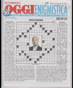 Settimanale Oggi Enigmistica - n. 51 - 25 dicembre 2018 -