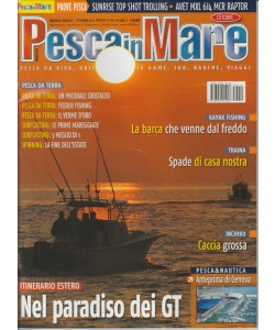 Pesca In Mare -mensile n. 31 Ottobre 2015