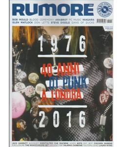 RUMORE. N. 290 MARZO 2016