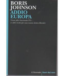 ADDIO EUROPA. BORIS JOHNSON.