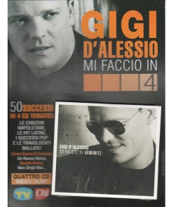 """4 CD GIGI D'ALESSIO """"Mi faccio in 4"""" 50 successi in 4 CD Tematici"""