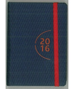 Agenda 2016 Giornaliera 7x10cm-Mod.115 TascaUno-Cangini Filippi Blu