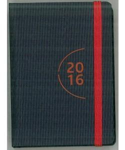 Agenda 2016 Giornaliera 7x10cm-Mod.115 TascaUno-Cangini Filippi nero