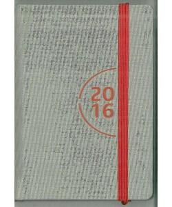 Agenda 2016 Giornaliera 7x10cm-Mod.115 TascaUno-Cangini Filippi Grigia