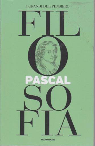 I grandi del pensiero - Filosofia - n. 13 -Pascal  -11/6/2021 - settimanale - 158 pagine