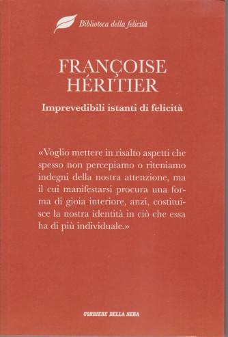Biblioteca della felicità  -  Francoise Heritier- Imprevedibili istanti di felicità -  n. 14- settimanale - 174  pagine