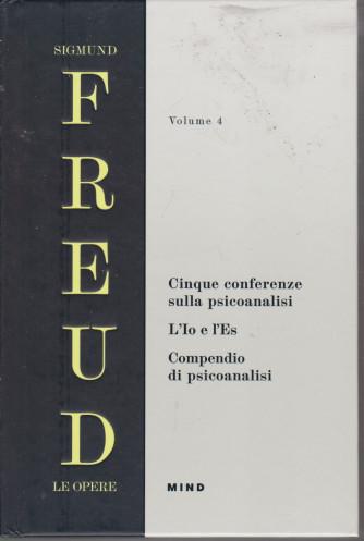 Sigmund Freud - Le opere - Volume 4 -Cinque conferenze sulla psicoanalisi - Compendio di psicoanalisi - copertina rigida - 26  pagine - copertina rigida