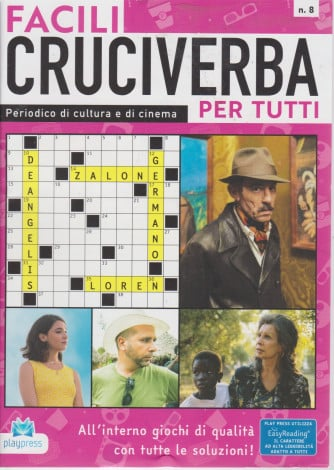 Facili cruciverba per tutti - n. 8 - bimestrale -29/6/2021
