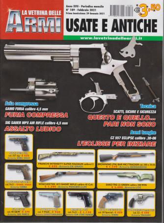 La vetrina delle armi usate e antiche - n. 189- febbraio 2021 - mensile