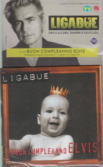 Cd Sorrisi Collezione 2 - n. 18 - Ligabue  -5° cd -Buon compleanno Elvis-    27/4/2021 - settimanale - formato maxi digipack + libretto inedito