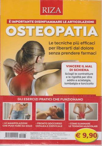 I manuali di Riza - n. 27-  -  Osteopatia -  agosto - settembre 2021