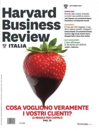 Harvard Business Review Italia mensile n.9 Settembre 2016