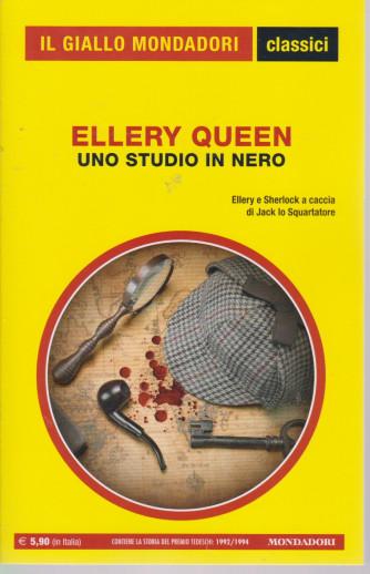 Il giallo Mondadori - classici - Ellery Queen - Uno studio in nero- n. 1444- mensile - maggio 2021 -184  pagine