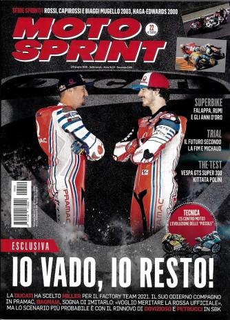Moto sprint - n. 22 - settimanale - 2/8/giugno 2020 -