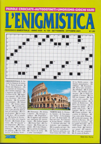 L'enigmistica - n. 129- bimestrale -settembre - ottobre  2021