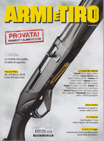 Armi e Tiro - n. 6- giugno  2021 - mensile
