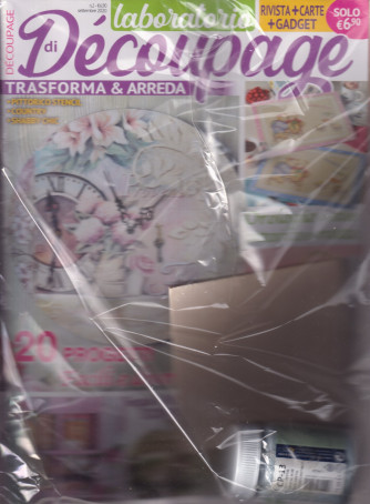 Laboratorio di decoupage - rivista + carte - n. 2 - bimestrale - ottobre - novembre 2021