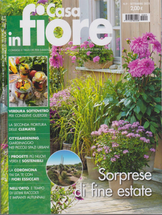 Casa in fiore - n. 9 -settembre 2021 - mensile