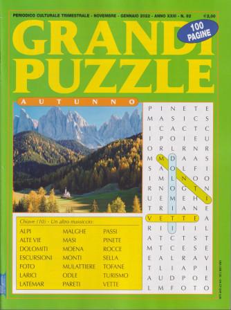 Grandi Puzzle -Autunno-  n. 92 - trimestrale -novembre - gennaio   2022 - 100 pagine