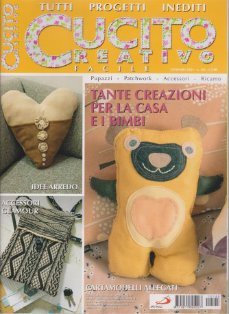 Cucito Creativo facile - n. 145 - 14 gennaio 2021- mensile
