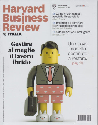 Harward Business Review Italia -  n. 5-maggio  2021 - mensile -