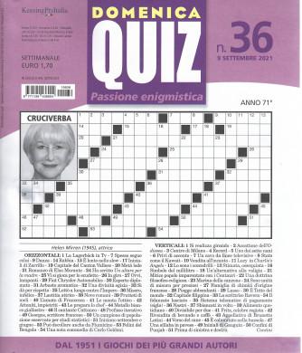 Domenica Quiz - n. 36- settimanale -9 settembre  2021