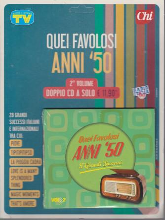 Cd Sorrisi Canzoni -n. 14- Quei favolosi anni '50 - 20/7/2021 - settimanale - 2° volume - doppio cd