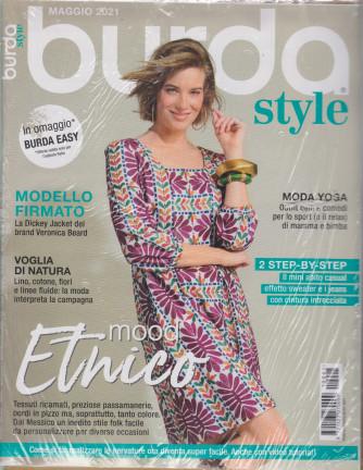 Burda style -  n. 5 - maggio 2021 - mensile -+ Burda Easy in omaggio - 2 riviste