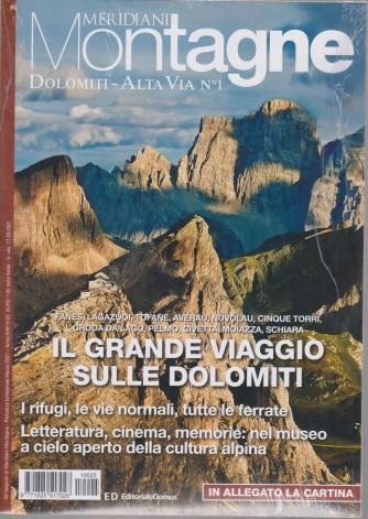 Gli speciali di Meridiani Montagne - Dolomiti - Alta Via n. 1-  + in allegato la cartina -  n. 25 - bimestrale - marzo 2021