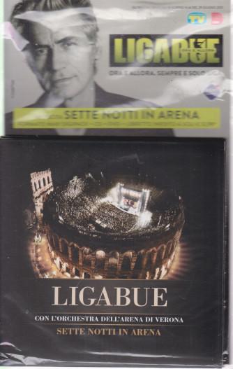 Cd Sorrisi Collezione 2 - n. 27- Ligabue  -14° cd - Sette notti in arena    - luglio 2021  - settimanale - formato maxi digipack + libretto inedto  + cd + dvdo+cd + dvd     cd + dvd