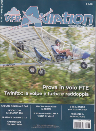 VFR Aviation - n. 76 - mensile - ottobre 2021 -