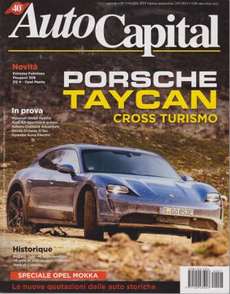 Auto Capital - n. 7 -Porsche Taycan cross turismo -  mensile -luglio 2021