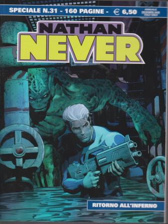 Nathan Never - speciale n. 31 - Ritorno all'inferno  - 160 pagine - 17 dicembre 2020  - annuale