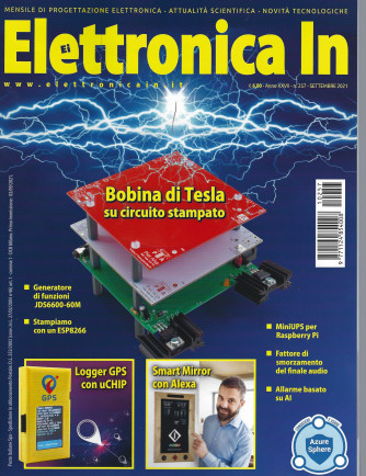 Elettronica In - n. 257 -settembre 2021 - mensile