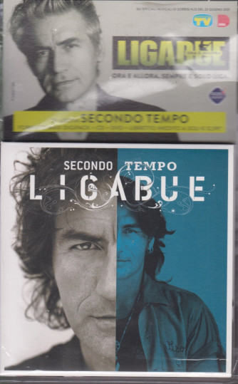 Cd Sorrisi Collezione 2 - n. 26- Ligabue  -13° cd -Secondo tempo    - luglio 2021  - settimanale - formato maxi digipack + libretto inedito+cd + dvd     cd + dvd