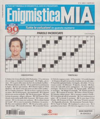 Enigmistica Mia - n. 32  -9 agosto  2021- settimanale