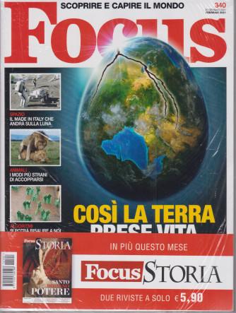 Focus + Focus Storia - n. 340 - febbraio  2021- mensile - 2 riviste
